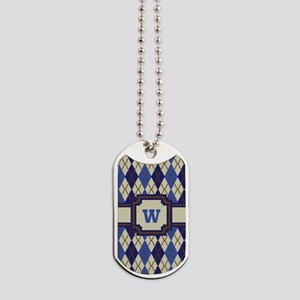 Blueberry Scone Argyle Dog Tags