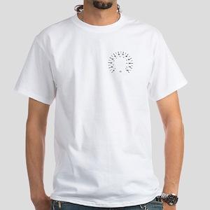 Mk1 Rabiit Scirocco Gauge Face White T-Shirt