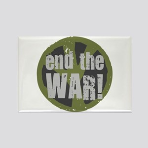 END THE WAR Peace Rectangle Magnet