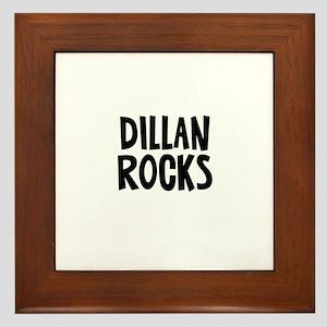 Dillan Rocks Framed Tile