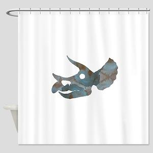 Triceratops Skull Shower Curtain