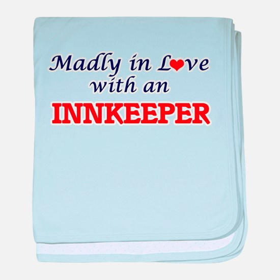Madly in love with an Innkeeper baby blanket