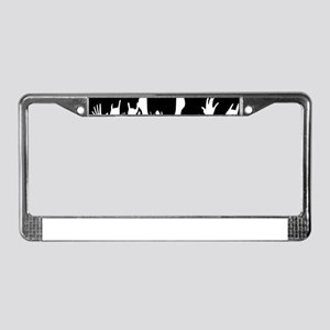 Audience Poster Background License Plate Frame