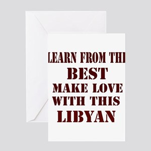 Learn best about Libya Greeting Card