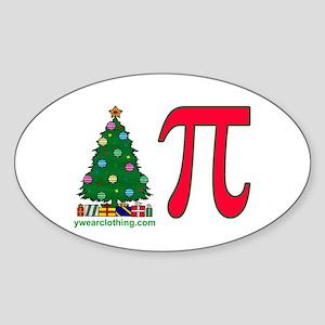 Christmas Pi Oval Sticker