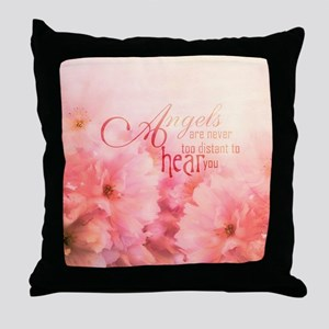 Pink Cherry Blossom for Angels Throw Pillow