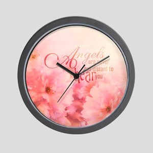 Pink Cherry Blossom for Angels Wall Clock