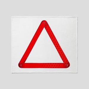 Vehicle Warning Triangle Throw Blanket
