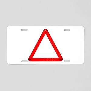 Vehicle Warning Triangle Aluminum License Plate