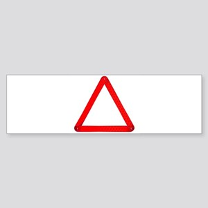 Vehicle Warning Triangle Bumper Sticker