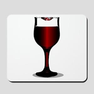 Lipstick Wine Glass Mousepad