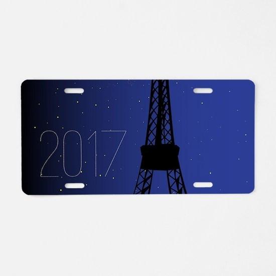 Paris Night 2017 Aluminum License Plate