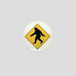Big Foot Crossing Mini Button