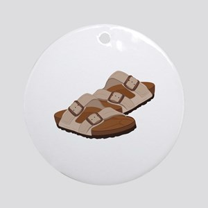 Birkenstock Sandals Round Ornament