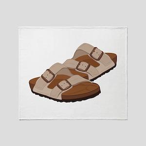 Birkenstock Sandals Throw Blanket