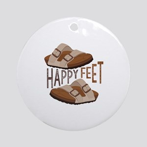 Happy Feet Round Ornament