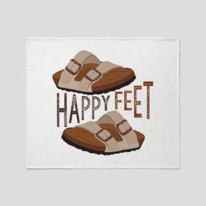 Happy Feet Throw Blanket