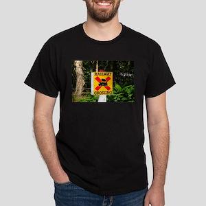 Railway crossing sign T-Shirt