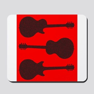 Guitar Silhouette Background Mousepad