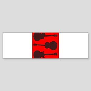 Guitar Silhouette Background Bumper Sticker