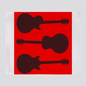 Guitar Silhouette Background Throw Blanket