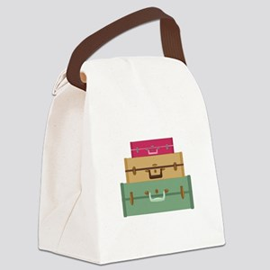 Suitcases Canvas Lunch Bag