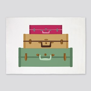 Suitcases 5'x7'Area Rug
