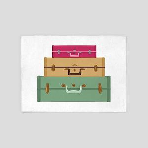 Suitcases 5'x7'Area Rug