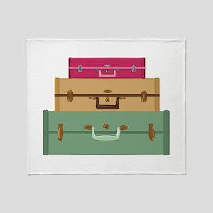 Suitcases Throw Blanket