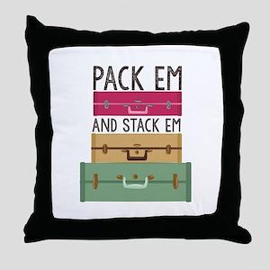 Pack Em Throw Pillow