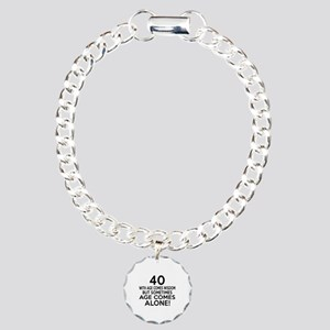 40 Awesome Birthday Desi Charm Bracelet, One Charm