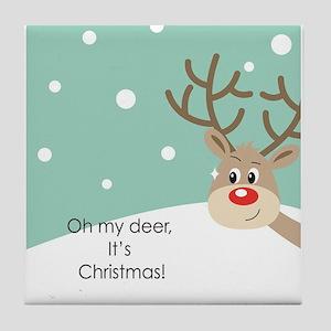 Oh My Deer Tile Coaster
