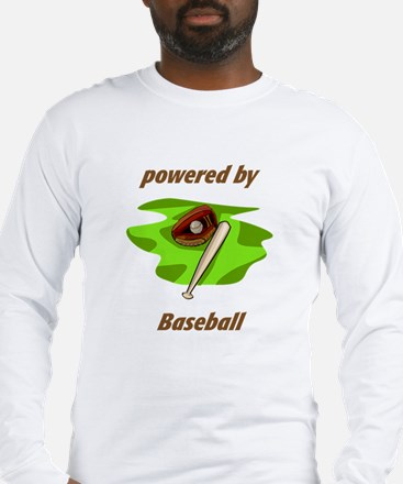 Powered By Baseball Long Sleeve T-Shirt