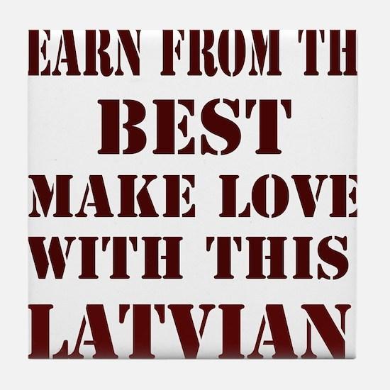 Learn best from Latvian Tile Coaster