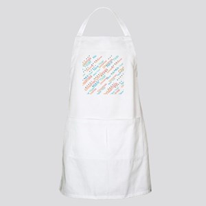 Holiday Greetings in Watercolor Light Apron