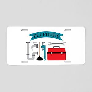 Plumbing Aluminum License Plate