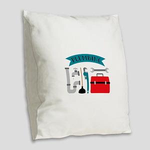 Plumbing Burlap Throw Pillow