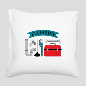 Plumbing Square Canvas Pillow
