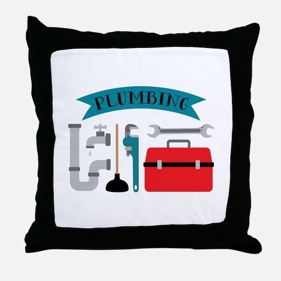 Plumbing Throw Pillow