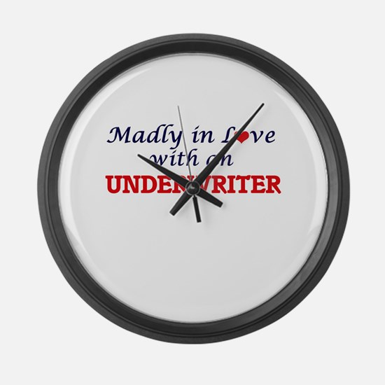 Madly in love with an Underwriter Large Wall Clock