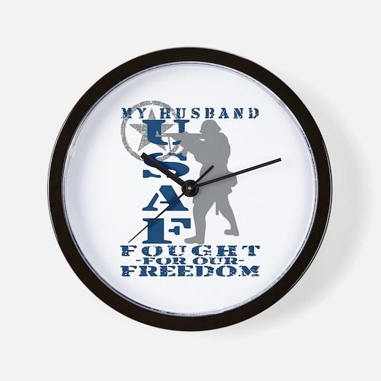 Hsbnd Fought Freedom - USAF Wall Clock
