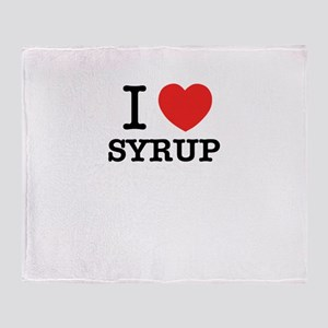 I Love SYRUP Throw Blanket