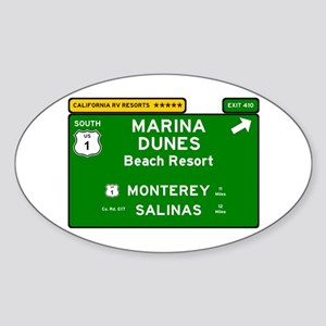 RV RESORTS -CALIFORNIA - MARINA DUNES - BE Sticker