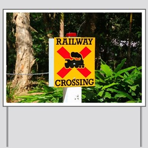 Railway crossing sign Yard Sign