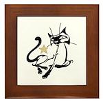 Siamese Cat Royalty Framed Tile
