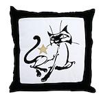 Siamese Cat Royalty Throw Pillow