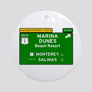 RV RESORTS -CALIFORNIA - MARINA DUN Round Ornament