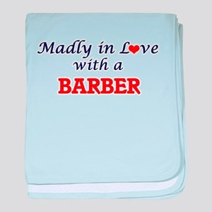 Madly in love with a Barber baby blanket