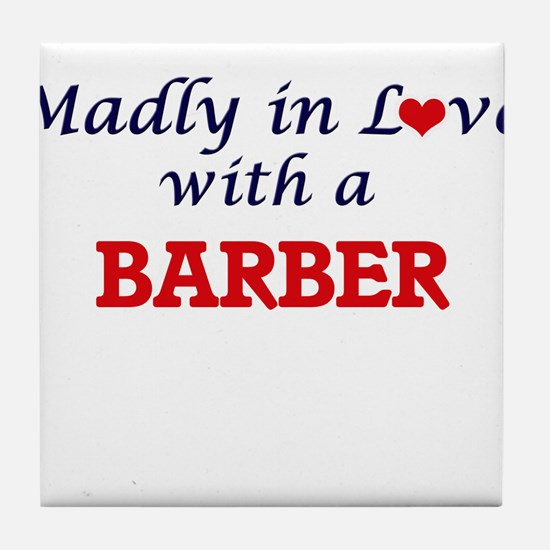 Madly in love with a Barber Tile Coaster