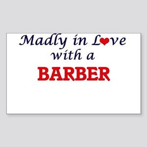 Madly in love with a Barber Sticker